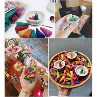 gói 100 viên trầm hương Thái Lan kèm đĩa nhỏ