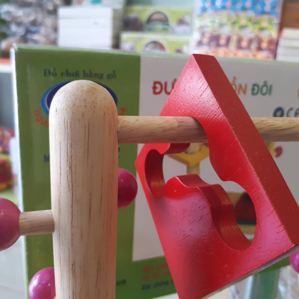 [Nhập TOYDOGO Giảm 15% ]Đồ chơi gỗ đường luồn đôi hãng WINWIN TOYS
