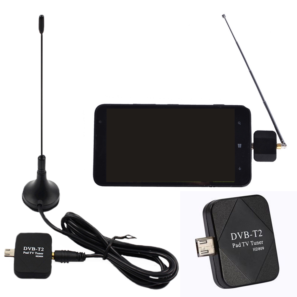 DVB-T2 DVB-T Tuner TV Receiver Digital HD + Antenna Mini USB Micro For Android Smart-phone Tablet