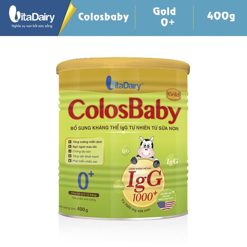 Combo 2 lon Sữa Colosbaby 1000IgG 0+ 800g