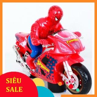 [Rẻ Vô Địch] Đồ chơi người nhện đi xe máy dùng pin FZX992