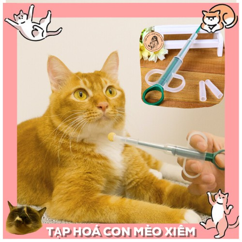 Dụng cụ cho thú cưng chó mèo uống thuốc Pet Medicine Feeder, dùng để bơm thuốc nước hoặc thuốc viên