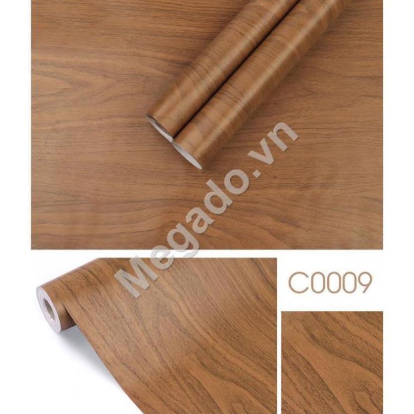 Cuộn 10m Giấy dán tường giả gỗ C0009 (Size: 45cm*10m) – Giấy dán tường