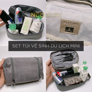 Túi vệ sinh du lịch cá nhân nam nữ chính hãng hàng không Emirates thương hiệu BVLGARI