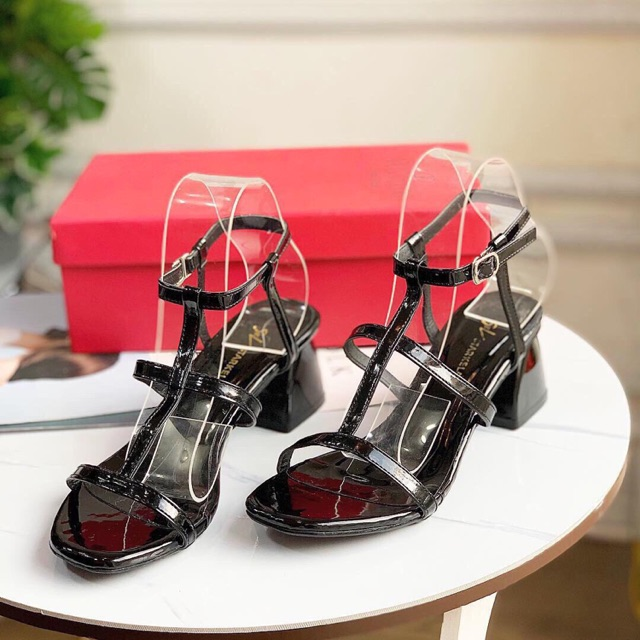 [Free ship từ 50k] Giày sandal cổng sở 3 quai dây mảnh hít bầu 5p đơn giản sang trọng