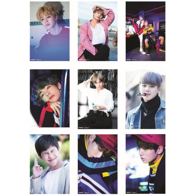 Lomo card ảnh nhóm BTS NAVER X DISPATCH Full 99 ảnh