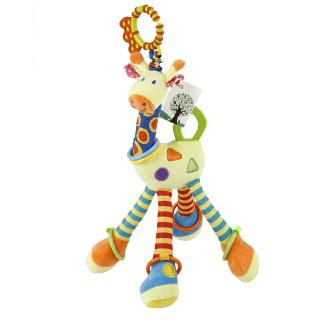 Plush Developmental Infant Baby Soft Giraffe Animal Handbells Rattles Toys