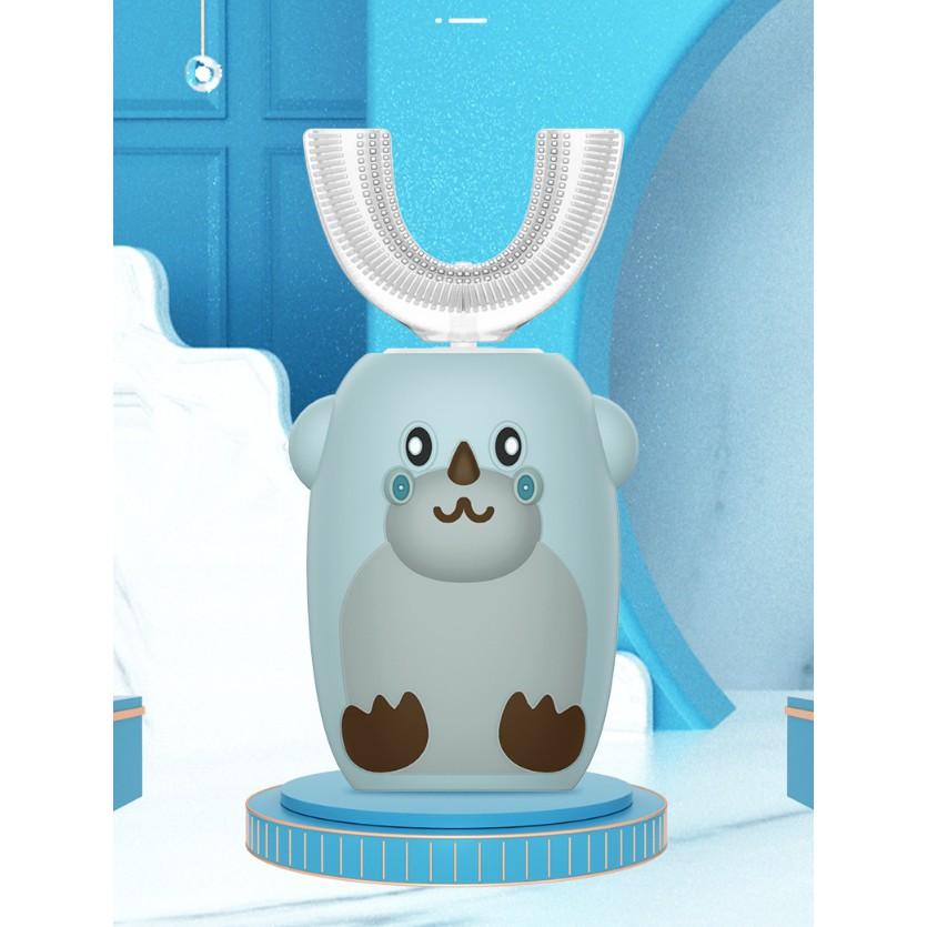 Bàn chải đánh răng hình chữ U - tự động - ôm sát và chải sạch 360 độ - dễ dàng tập đánh răng cho bé