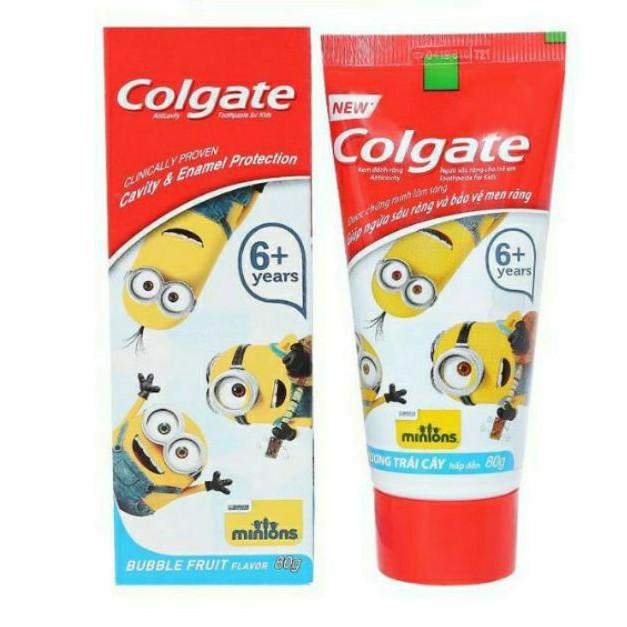 (80g)Kem đánh đánh răng Colgate trẻ em Minions(HSD 8/2021)