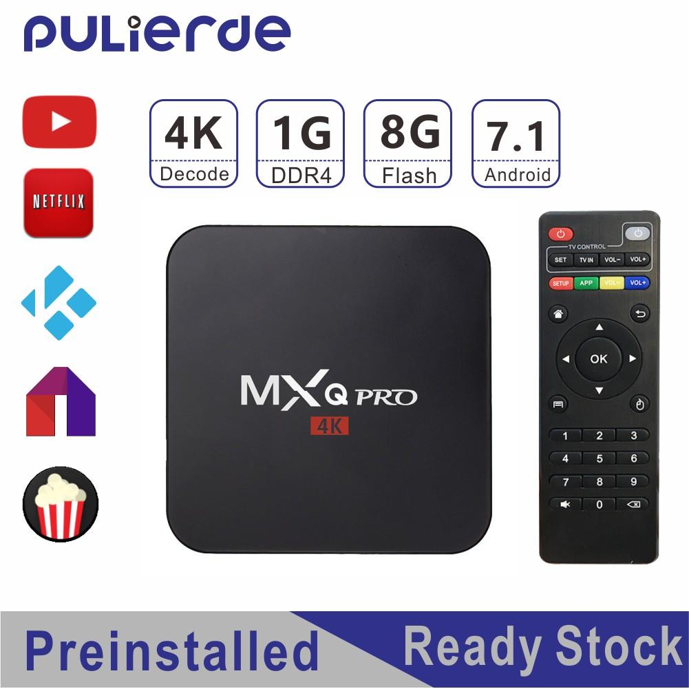 Thiết bị TV Box Android KODI chuyển đổi TV thường thành TV thông minh MXQ Pro 4K 1GB 8GB