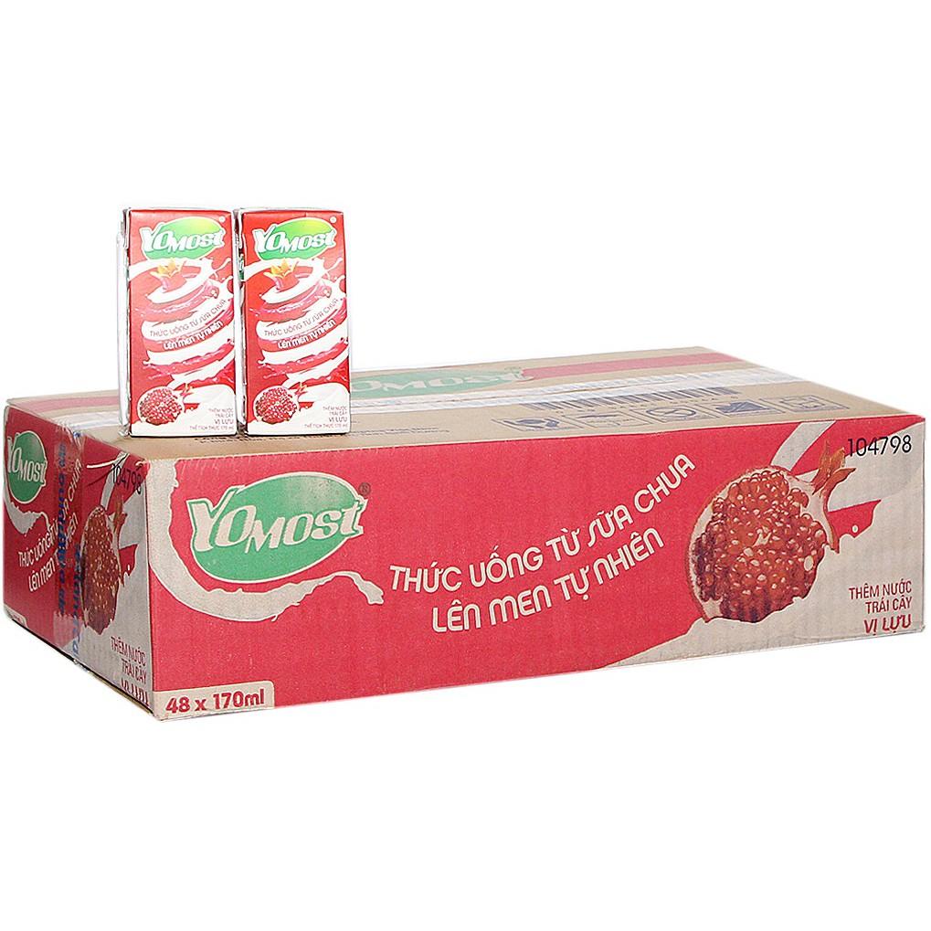 Sữa chua uống Yomost vị Lựu hộp 170ml (thùng 48 hộp) - 3506133 , 855150480 , 322_855150480 , 294000 , Sua-chua-uong-Yomost-vi-Luu-hop-170ml-thung-48-hop-322_855150480 , shopee.vn , Sữa chua uống Yomost vị Lựu hộp 170ml (thùng 48 hộp)