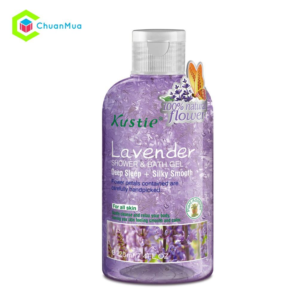 Sữa tắm Kustie Shower and Bath Gel 220ml Lavender - MPA062-M0108 - 2573238 , 278757742 , 322_278757742 , 159000 , Sua-tam-Kustie-Shower-and-Bath-Gel-220ml-Lavender-MPA062-M0108-322_278757742 , shopee.vn , Sữa tắm Kustie Shower and Bath Gel 220ml Lavender - MPA062-M0108