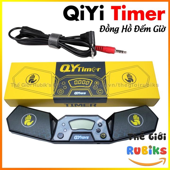 QiYi Timer + Dây cáp Cable kết nối. Đồng Hồ Máy Đếm Thời Gian Giải Rubik