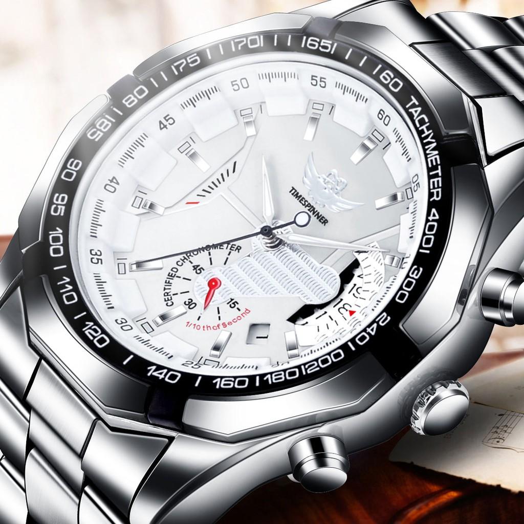 ดู◑Swiss quality-Calendar hollowed Waterproof Watches male students Korean version of the mechanical watch nightlight t