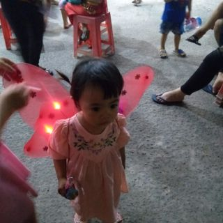 Cánh tiên có đèn . đủ phụ kiện cho bé ( canh bướm)