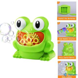 【COD】 New Cute Frog Automatic Bubble Machine Blower Maker Party Summer Outdoor Toy for Kids