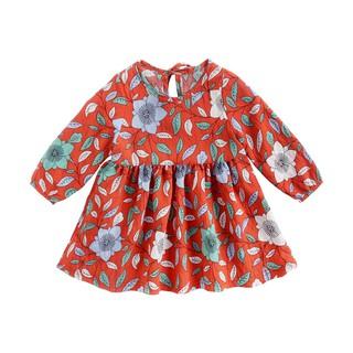 Đầm Cotton Sanlutoz Dài Tay Họa Tiết Hoa Cho Bé Gái Sơ Sinh thumbnail
