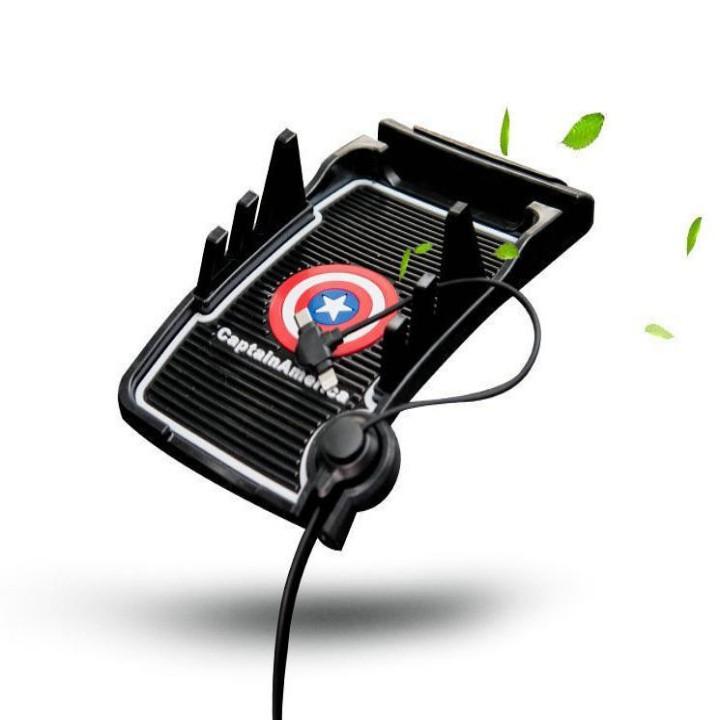 Giá đỡ kiêm sạc điện thoại trên taplo ô tô Cao cấp