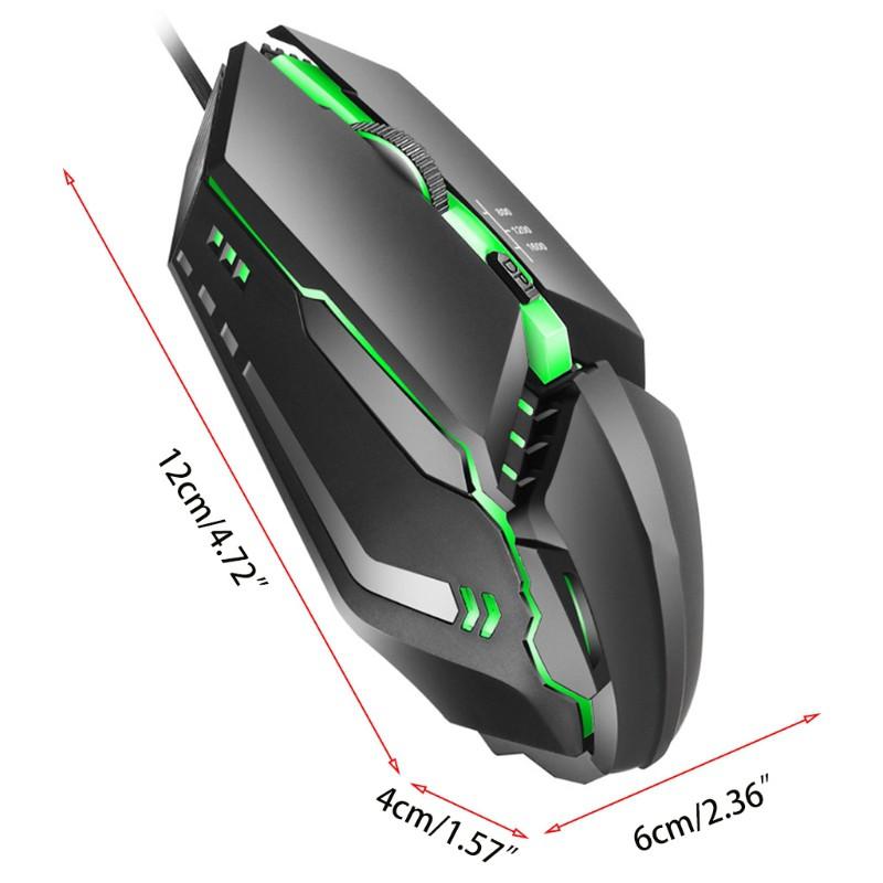 Chuột Gaming K3 Có Dây, 7 Màu, 1600dpi
