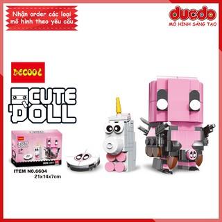 Brick Headz siêu anh hùng Deadpool độc quyền của DECOOL - Đồ chơi Lắp ghép Mini Minifigures BrickHeadz 6604 Mô hình thumbnail