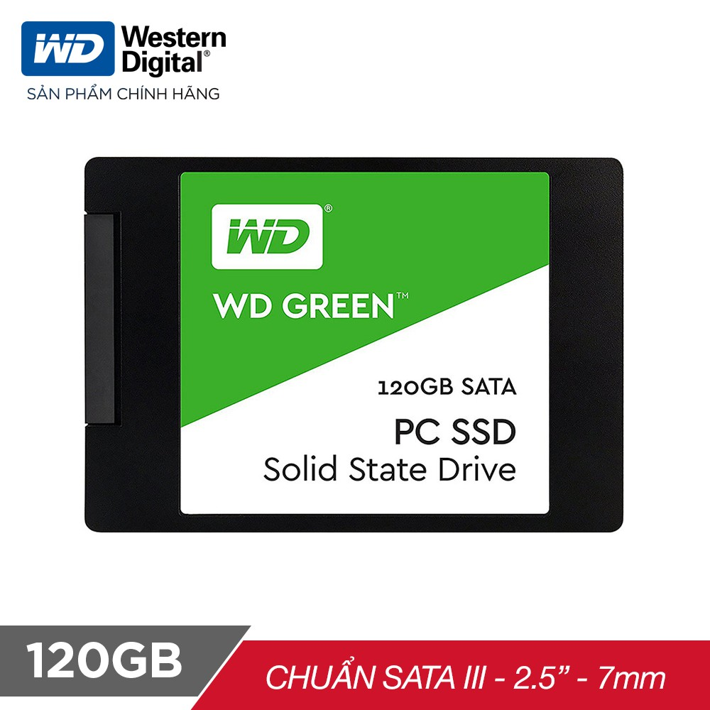 Ổ cứng SSD WD Green 120GB 3D NAND Sata III 2.5 inch 7mm