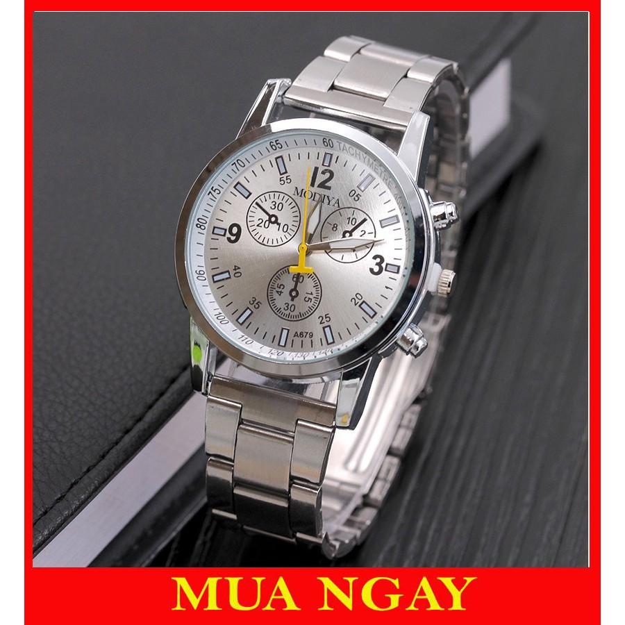 Đồng hồ cơ nam đeo tay cao cấp dây kim loại Modiya cực hot DH103