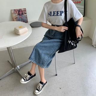 Chân Váy Chữ A Lưng Cao Phong Cách Retro Hàn Quốc