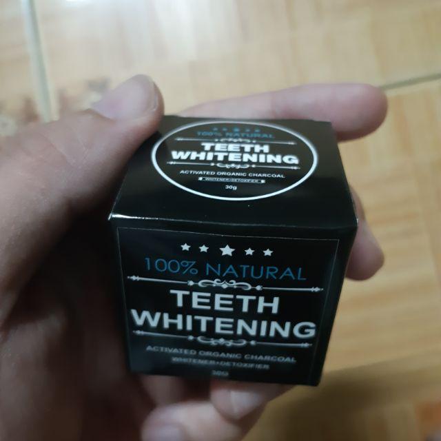 Bột Trắng Răng Than tre hoạt Tính Whitening