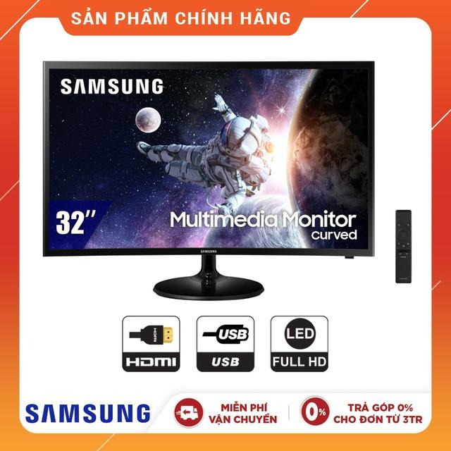 Màn hình máy tính/Tivi Cong Samsung LC32F39MFUEXXV (Model 2019) - Kèm Remote