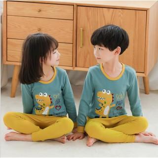 Đồ bộ cho bé 👣FREESHIP👣 Bộ thun dài tay Quảng Châu trẻ em nam nữ