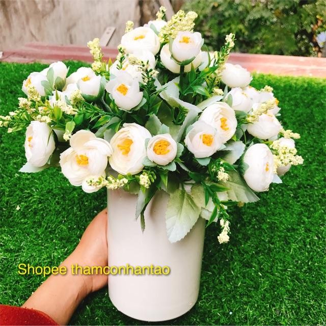 Lọ sứ ống trụ cắm hoa( không kèm hoa)