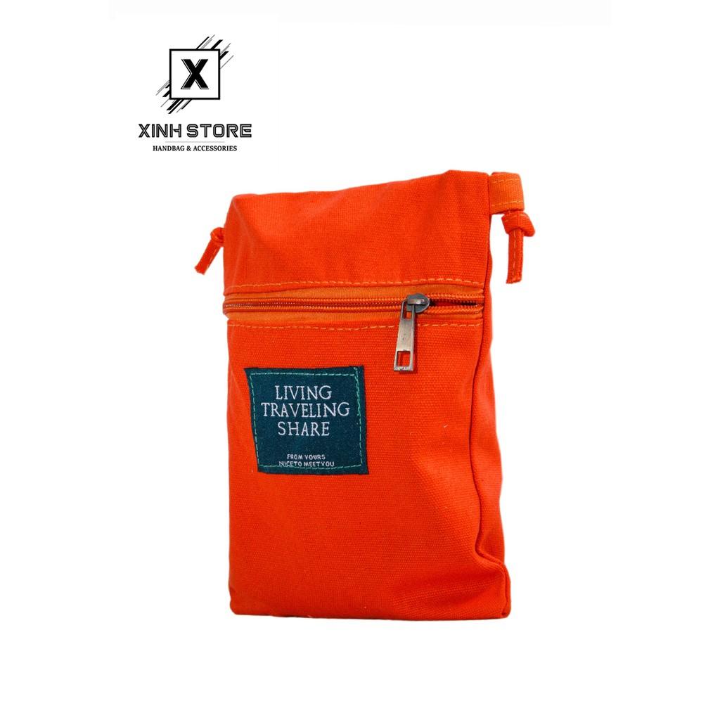 Túi Đeo Chéo Living Vuông Hồng XinhStore