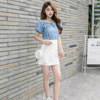 Chân Váy Lưng Cao Thời Trang Xuân Hè Hàn Quốc Dành Cho Nữ 2021