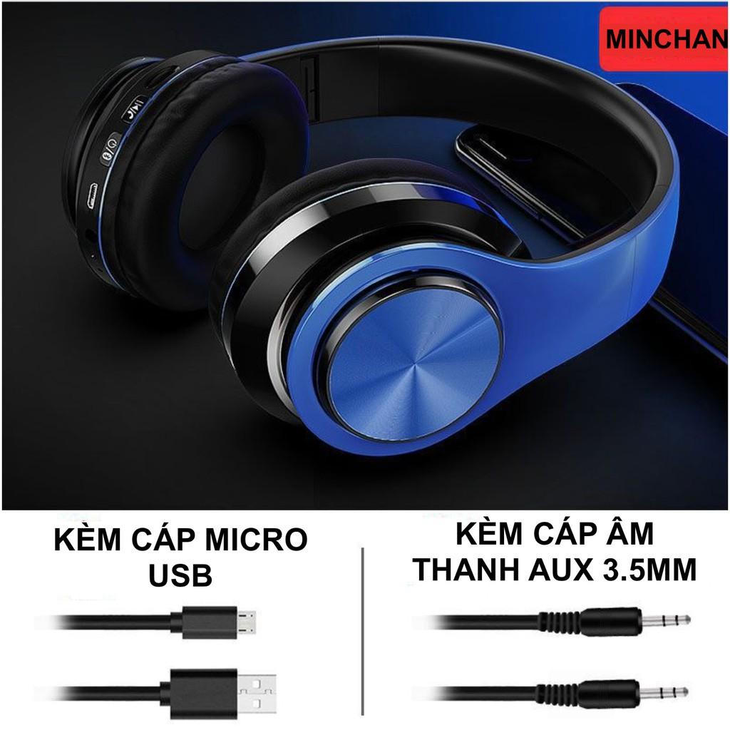 Tai nghe Bluetooth V5.0 không dây B39 LED Bass siêu trầm tặng kèm Zack 3.5mm - Đàm thoại 2 chiều hỗ trợ thẻ nhớ