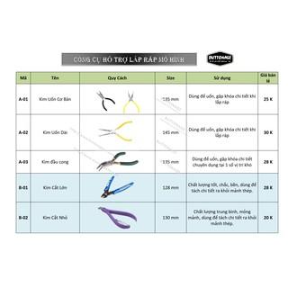 Dụng cụ lắp ráp mô hình 3d Kim Loại (Free khi mua mô hình)