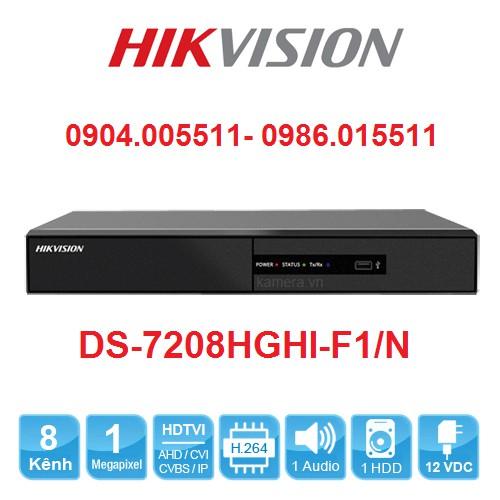 Đầu Ghi Hình 8 Camera HIKVISION DS-7208HGHI-F1/N - Chính hãng Full VAT