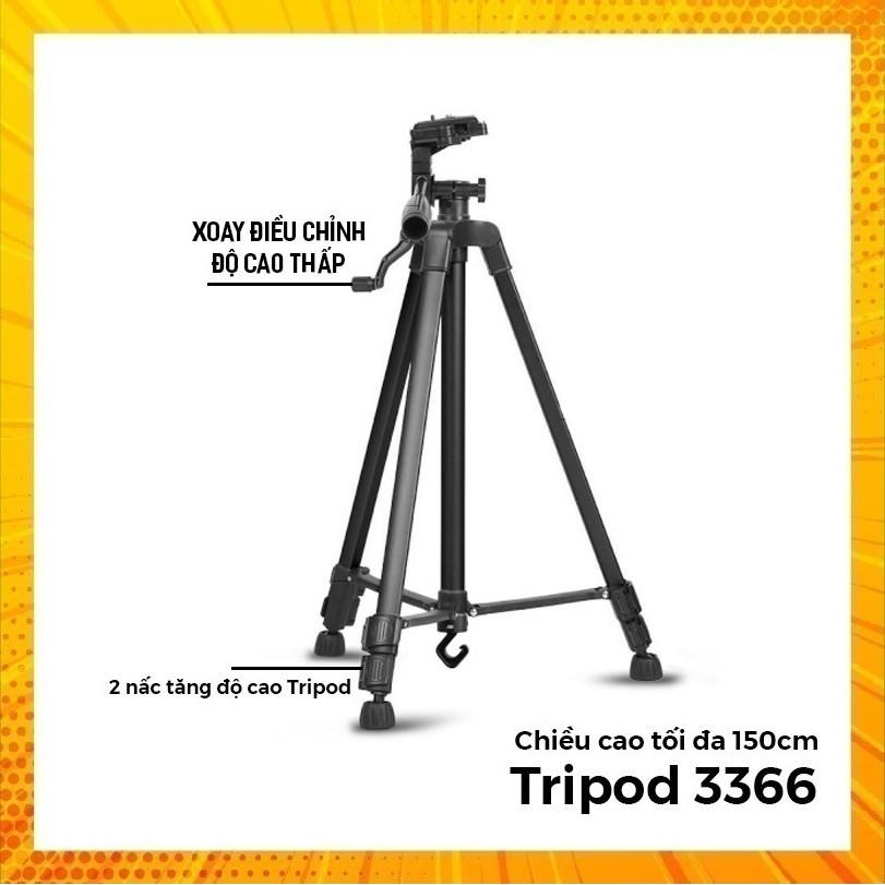 CHÂN GIÁ ĐỠ TRIPOD 3366 CAO 150cm