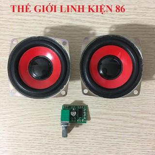 Combo chế loa 2 loa 4ohm 5w + mạch âm thanh 8403