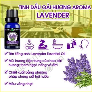 Tinh dầu thơm phòng Oải hương Lavender tinh dầu AROMA khử mùi ngủ ngon 2