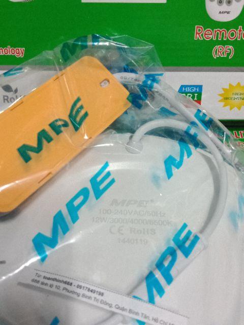 Đèn Led âm trần 3 màu 12w MPE - âm tròn 3 chế độ