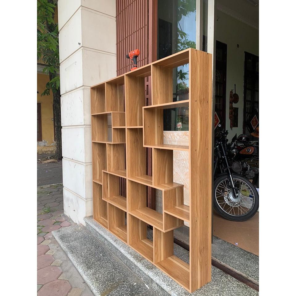 Kệ sách gỗ để sàn đa tầng thông minh màu vân gỗ (hàng đẹp giá tốt)