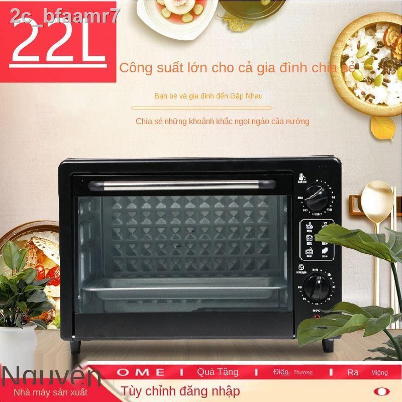 ✗▥Lò nướng điện gia dụng quà tặng nhỏ đa năng nướng bánh mini tự động 22 lít 48 bánh dung tích lớn
