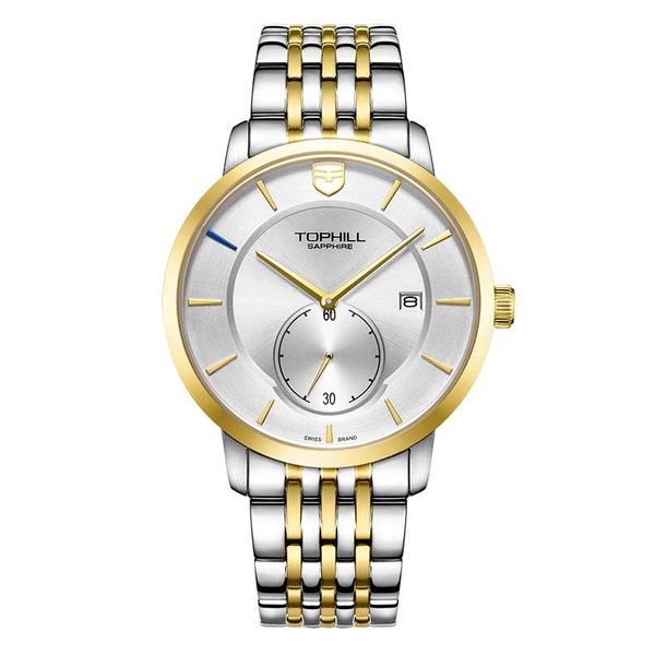 Đồng hồ nam chính hãng TOPHILL TW078G.S6652 - Dây thép - kính Saphire