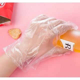 [Mã 88FMCGSALE1 giảm 10% đơn 250K] Set 100 chiếc găng tay nilong dùng 1 lần tự hủy sinh học