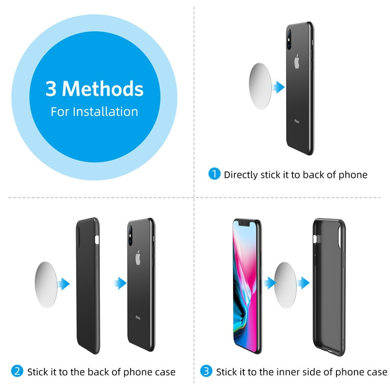 Giá Đỡ Điện Thoại Từ Tính Xoay 360 Độ Cho Xiaomi Redmi Note 5a Mi Note 8