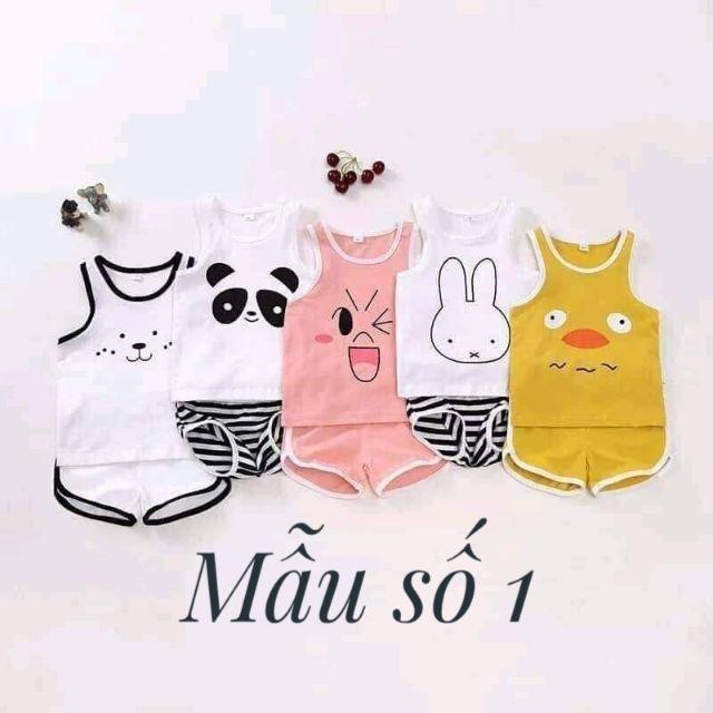 Nhiều mẫu-Quần áo trẻ em-Combo 5 bộ chip đùi cotton cho bé