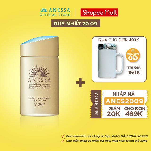Sữa chống nắng dưỡng da bảo vệ hoàn hảo Anessa Perfect UV Sunscreen Skincare Milk 60ml _16152