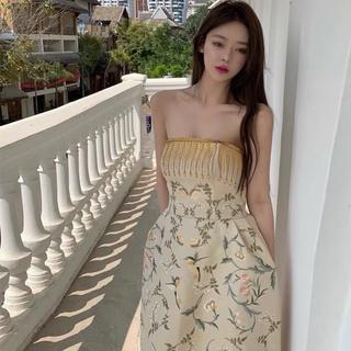 [Có ảnh thật] DIANA DRESS Đầm midi hoạ tiết cổ điển phong cách vintage SAM SAM BOUTIQUE