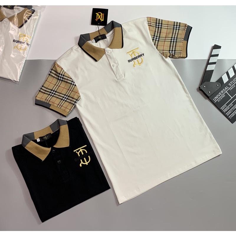 Áo thun cổ trụ thêu logo nổi bật(chất liệu cotton 100%)