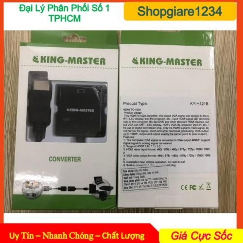 Cáp chuyển HDMI ra VGA có Audio Kingmaster KY-H 124B / KY-H 121B- Chính Hãng KINGMASTER-, Bảo Hành 12 Tháng